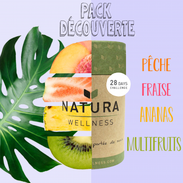 Pack découverte 4 saveurs fruitées